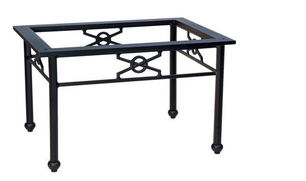 Picture of Woodard Aluminum Delphi Rectangular Coffee Table Base