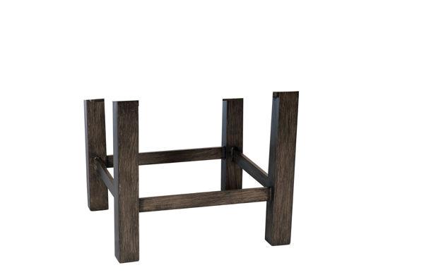 Picture of Woodard Aluminum Trestle Rectangular Coffee Table Base