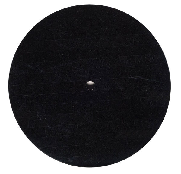 "Picture of Woodard Black Granite 36"" Round Top"