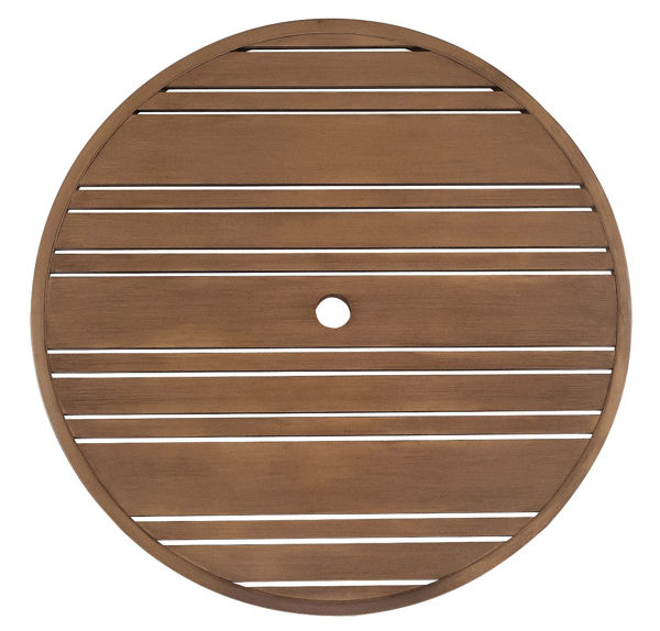 """Picture of Woodard Extruded Aluminum Tri-Slat 36"""" Round Top"""