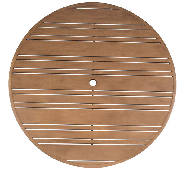 """Picture of Woodard Extruded Aluminum Tri-Slat 48"""" Round Top"""