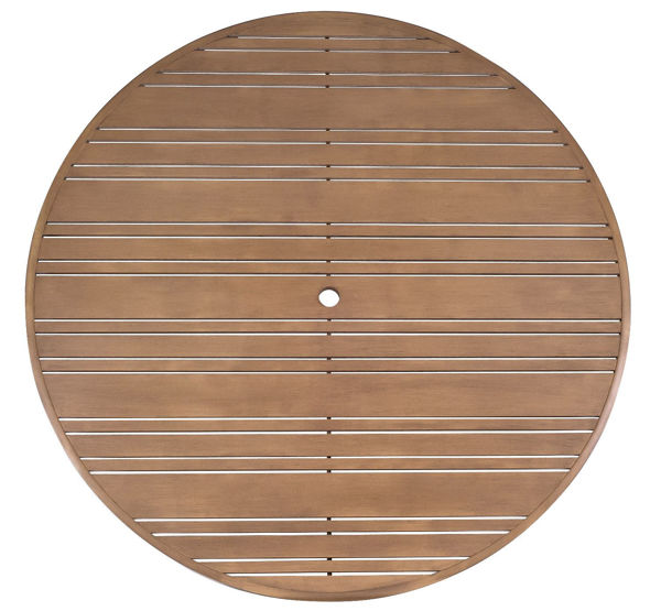 """Picture of Woodard Extruded Aluminum Tri-Slat 60"""" Round Top"""