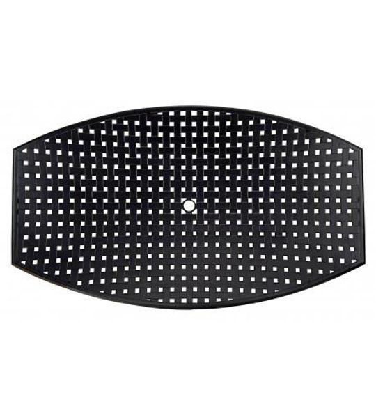 Picture of Woodard Cast Aluminum Thatch 42' x 84' Rectangle Umbrella Table Top
