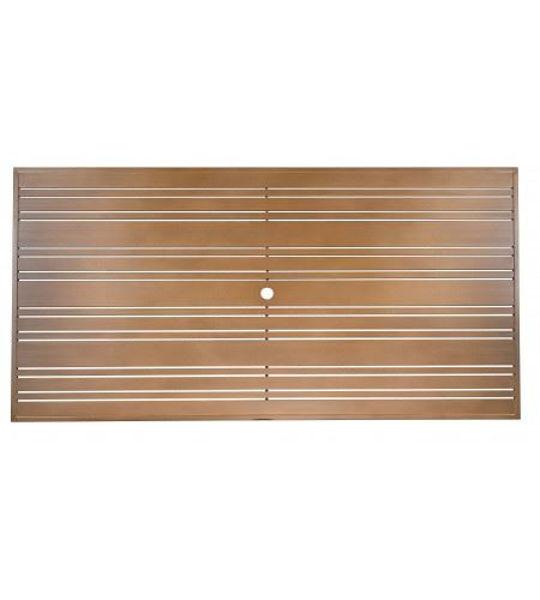 Picture of Woodard Aluminum Tri-Slat 42' x 84' Rectangular Table Top