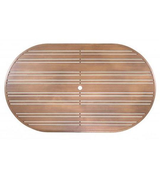 Picture of Woodard Aluminum Tri-Slat 52' x 100' Rectangular Table Top