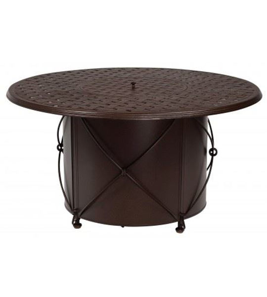 Picture of Woodard Universal Derby Accents Round Fire Pit Base with Burner