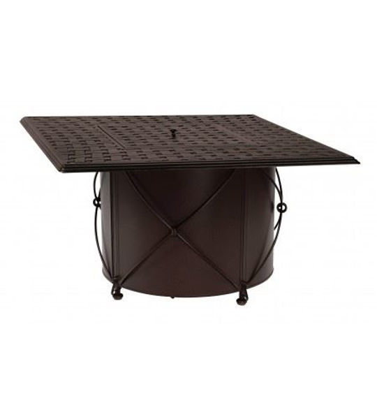 Picture of Woodard Universal Derby Accents Round Fire Pit Base with Square Burner