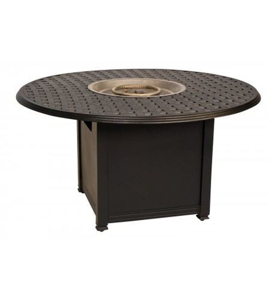 Picture of Woodard Universal Square Fire Pit Base with Round Burner