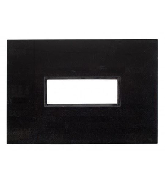 Picture of Woodard Black Granite Rectangular 42' x 60' Fire Pit Top with Burner Cover