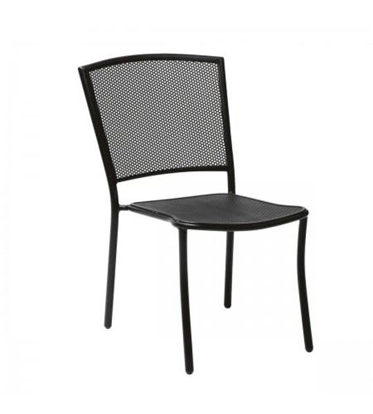 Picture of Woodard Albion Textured Black Side Chair - Stackable