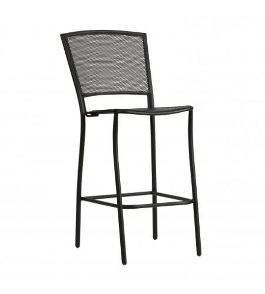 Picture of Woodard Albion Textured Black Stationary Bar Stool