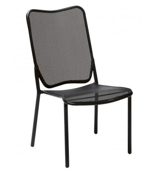Picture of Woodard Alissa Textured Black Side Chair - Stackable