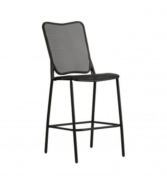 Picture of Woodard Alissa Textured Black Stationary Bar Stool