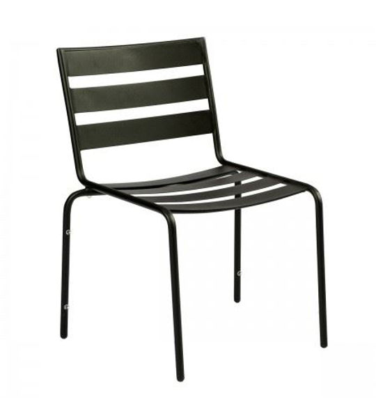 Picture of Woodard Metro Textured Black Dining Side Chair - Stackable