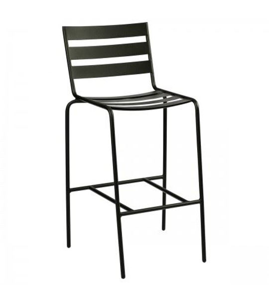 Picture of Woodard Metro Textured Black Stationary Bar Stool