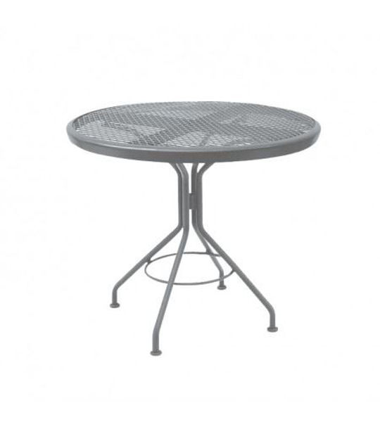 "Picture of Woodard Moderne Mercury Mesh Contract 30"" Round Dining Top Table"