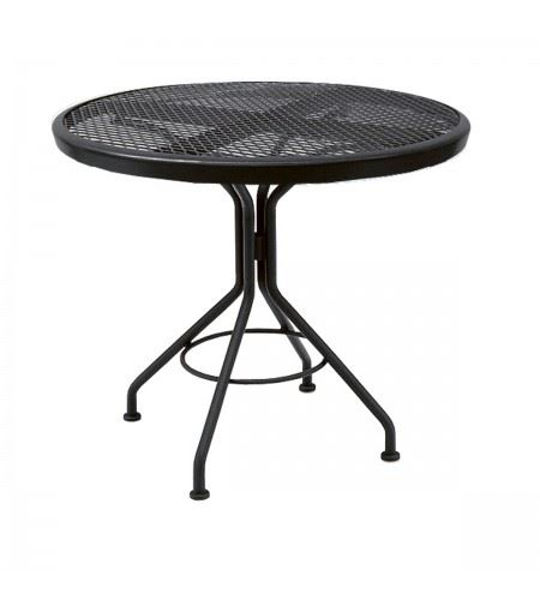 """Picture of Woodard Moderne Textured Black Contract 30"""" Round Dining Top Table"""