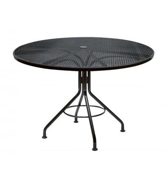 "Picture of Woodard Moderne Textured Black Contract 48"" Round Umbrella Top Table"