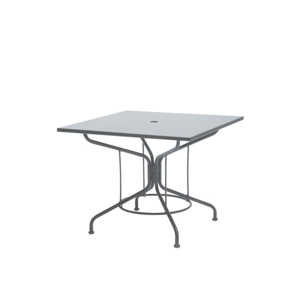 "Picture of Woodard Moderne Mercury Mesh 36"" Square Umbrella Table"
