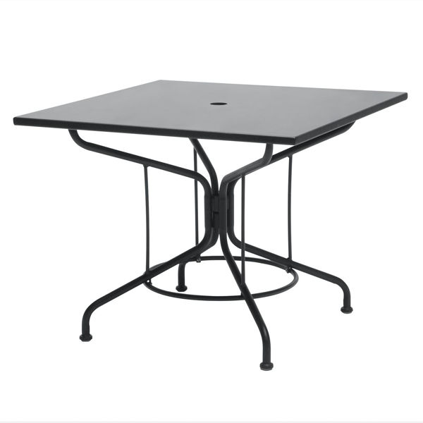 """Picture of Woodard Moderne Textured Black 36"""" Square Umbrella Table"""