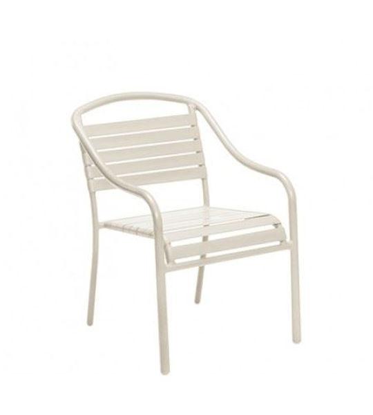Picture of Woodard Baja Sandstone Arm Chair - Stackable