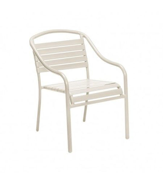 Picture of Woodard Baja White Arm Chair - Stackable