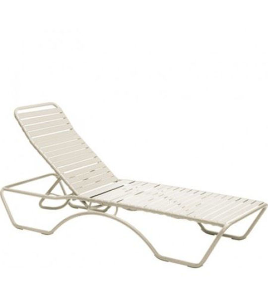 Picture of Woodard Baja Sandstone Adjustable Chaise Lounge - Stackable