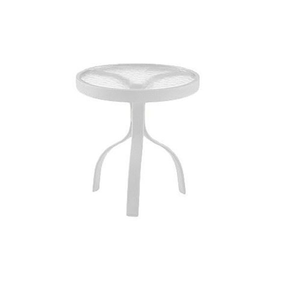 """Picture of Woodard Deluxe White 18"""" Round End Table"""