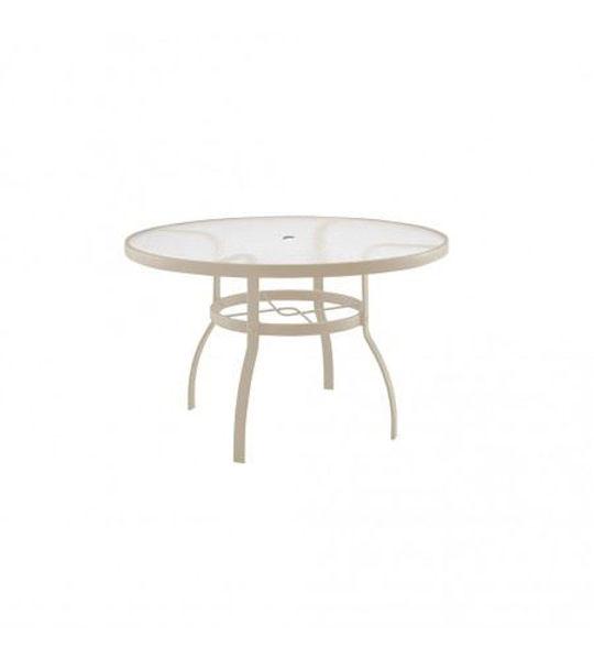 "Picture of Woodard Deluxe Sandstone 42"" Round Umbrella Table"