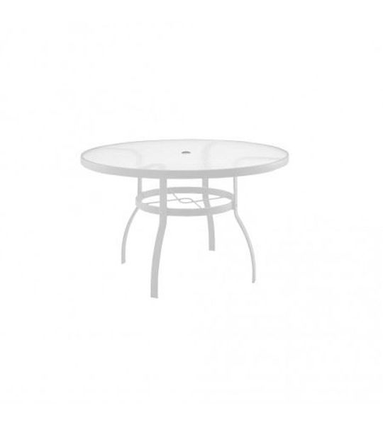 "Picture of Woodard Deluxe White 48"" Round Umbrella Table"