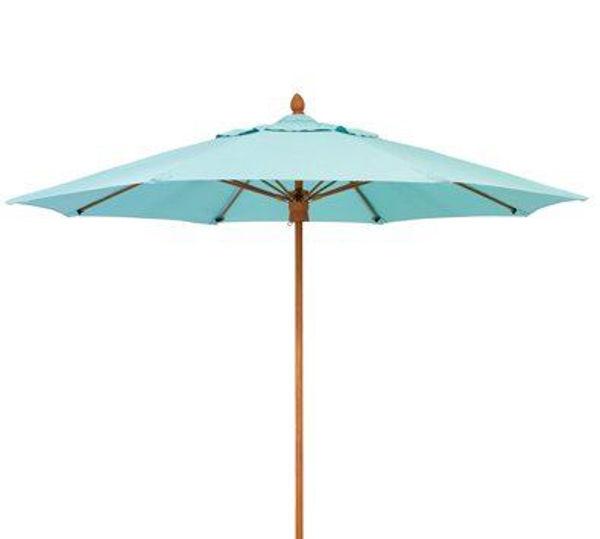 Picture of Woodard Fiberbuilt Bridgewater Umbrella 9 Foot - Fiber Teak