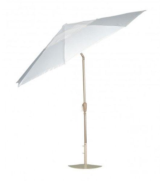 Picture of Woodard Market Umbrellas 9 Foot Push-Button Tilt - Hammered Pewter
