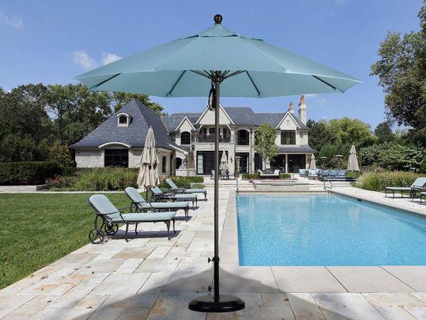 Picture of California Umbrella 9 ft. Pulley Lift Round Market Aluminum Umbrella