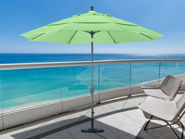 Picture of California Umbrella 11 ft. Collar Tilt Round Aluminum Umbrella