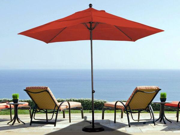 Picture of California Umbrella Ez Lift 11 ft. Round Aluminum Umbrella