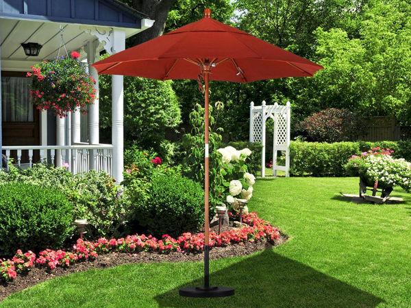 Picture of California Umbrella 7 ft. Pulley Lift Round Wood Umbrella
