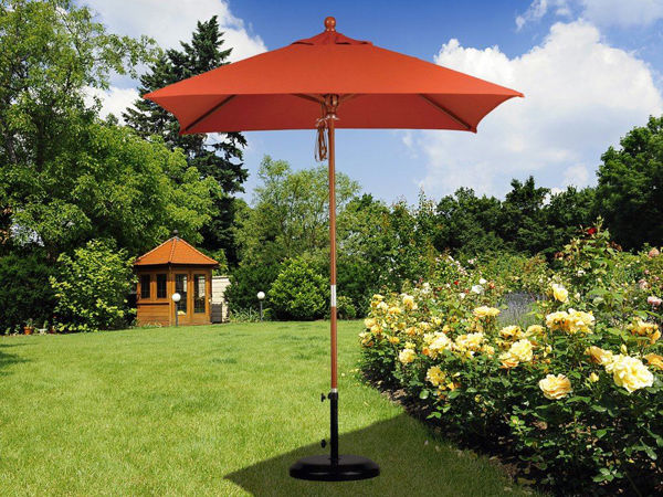 Picture of California Umbrella 6 ft. Square Wood Umbrella