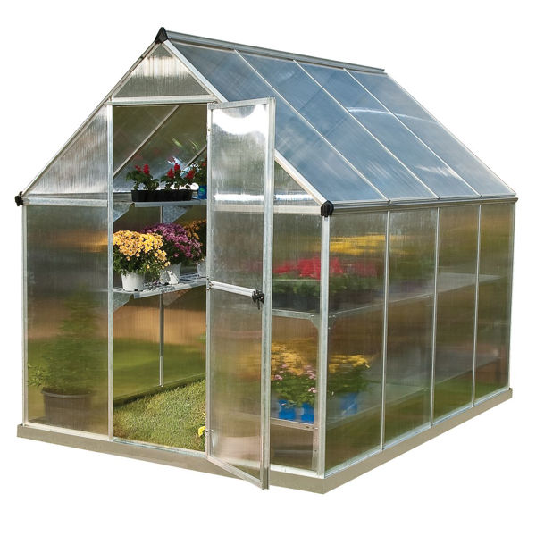 Picture of Poly Tex Mythos Hobby 6 x 6 Greenhouse - Silver