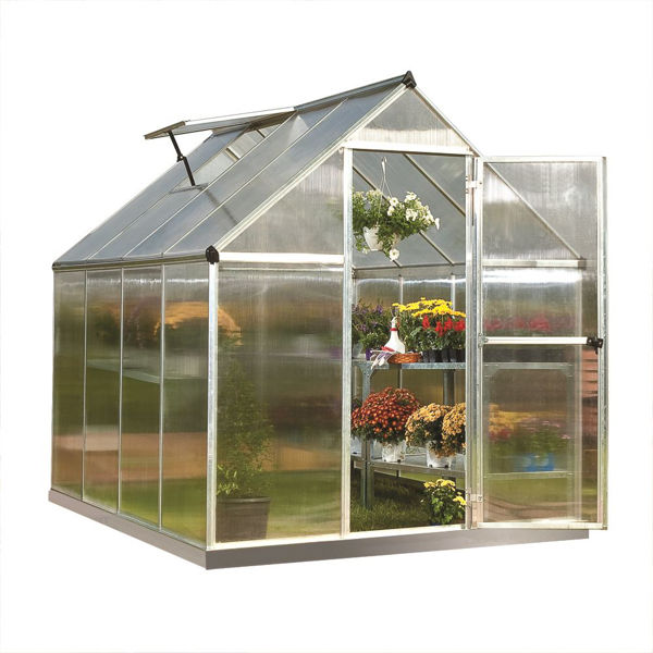 Picture of Poly Tex Mythos Hobby 6 x 8 Greenhouse - Silver