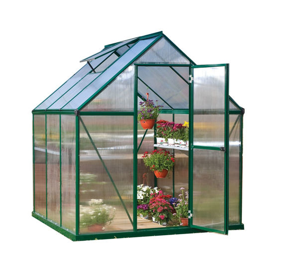 Picture of Poly Tex Mythos Hobby 6 x 6 Greenhouse - Green
