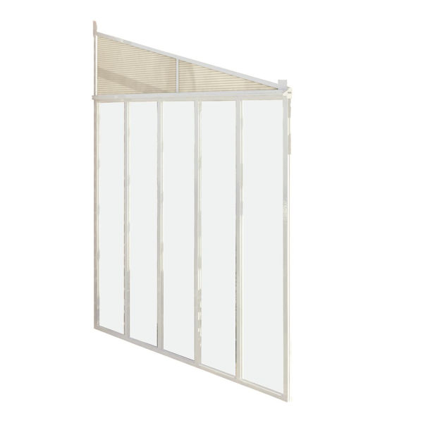 """Picture of Poly Tex Feria Patio Cover Sidewall Kit - 10"""" - White"""