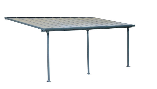 Picture of Poly Tex Feria Patio Cover 10 x 20 - Gray
