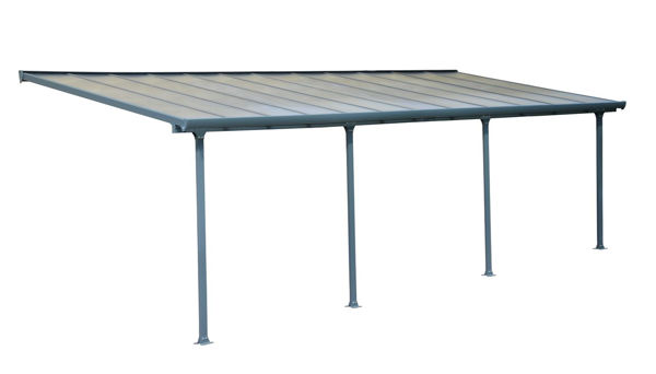 Picture of Poly Tex Feria Patio Cover 10 x 24 - Gray