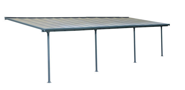 Picture of Poly Tex Feria Patio Cover 10 x 28 - Gray