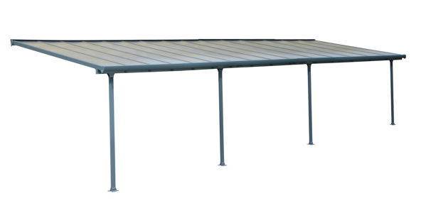 Picture of Poly Tex Feria Patio Cover 10 x 30 - Gray