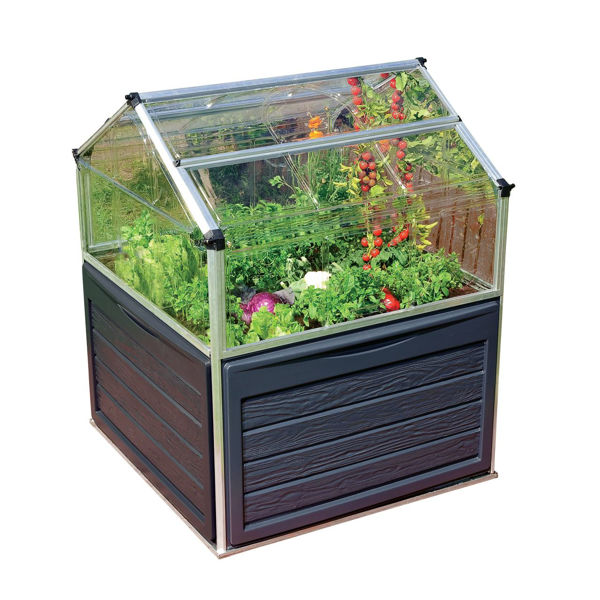 Picture of Poly Tex Small Greenhouses Plant Inn - Clear - Silver
