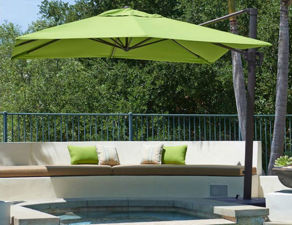 Picture of California Umbrella 10 x 10 Square Cantilever Crank Lift Market Umbrella