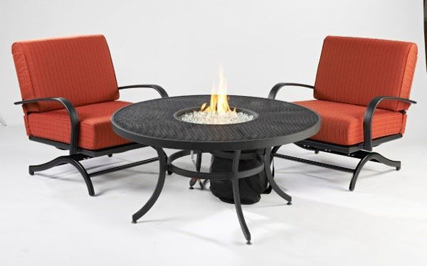 "Picture of Outdoor Great Room Nightfire 42"" Round Mesh Fire Pit Table"