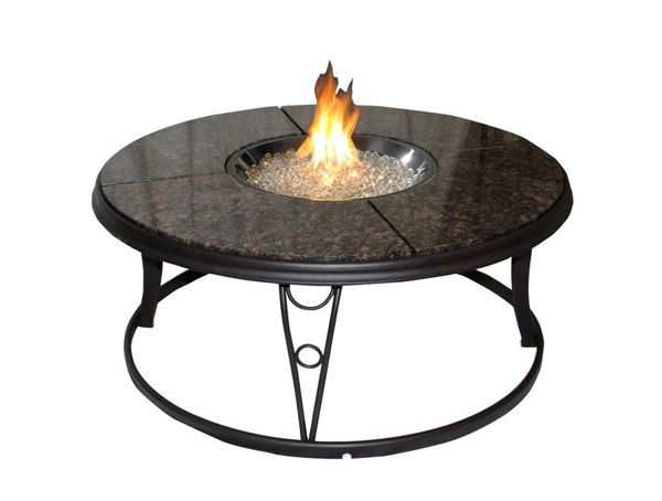 """Picture of Outdoor Great Room 48"""" Granite Fire Pit Table"""