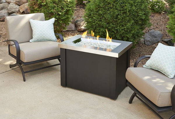 Picture of Outdoor Great Room Providence Fire Pit Table with Stainless Steel Top